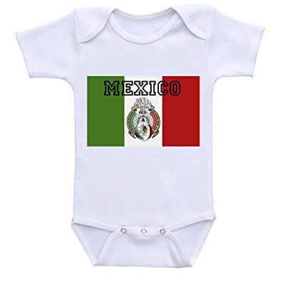""" Mexico "" Custom Boutique Baby bodysuit onesie"