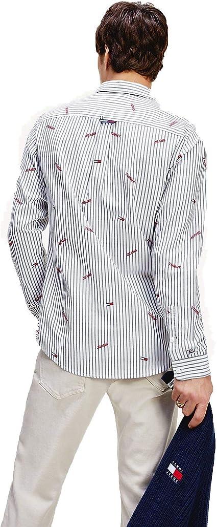 Tommy Hilfiger TJM Chambray Shirt Camisa para Hombre: Amazon.es: Ropa y accesorios