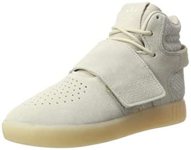 Adidas Tubular Invader Strap, Sneakers Hautes Mixte Enfant, Marron Clear Brown/Chalk White