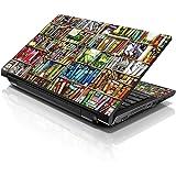 Correas 15 39,62 cm ordenador portátil Skin para diseño compatible con 33,78 cm 35,56 cm 39,62 cm 40,64 cm HP Dell Lenovo Apple Asus Acer Compaq (incluye 2 reposamuñecas de incluido) libros