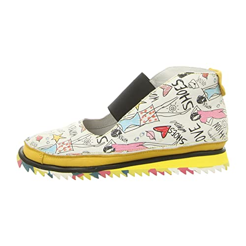 Clamp Lancelot Fashion Print/Yell - Mocasines de Piel para mujer, color azul, talla 42 EU: Amazon.es: Zapatos y complementos