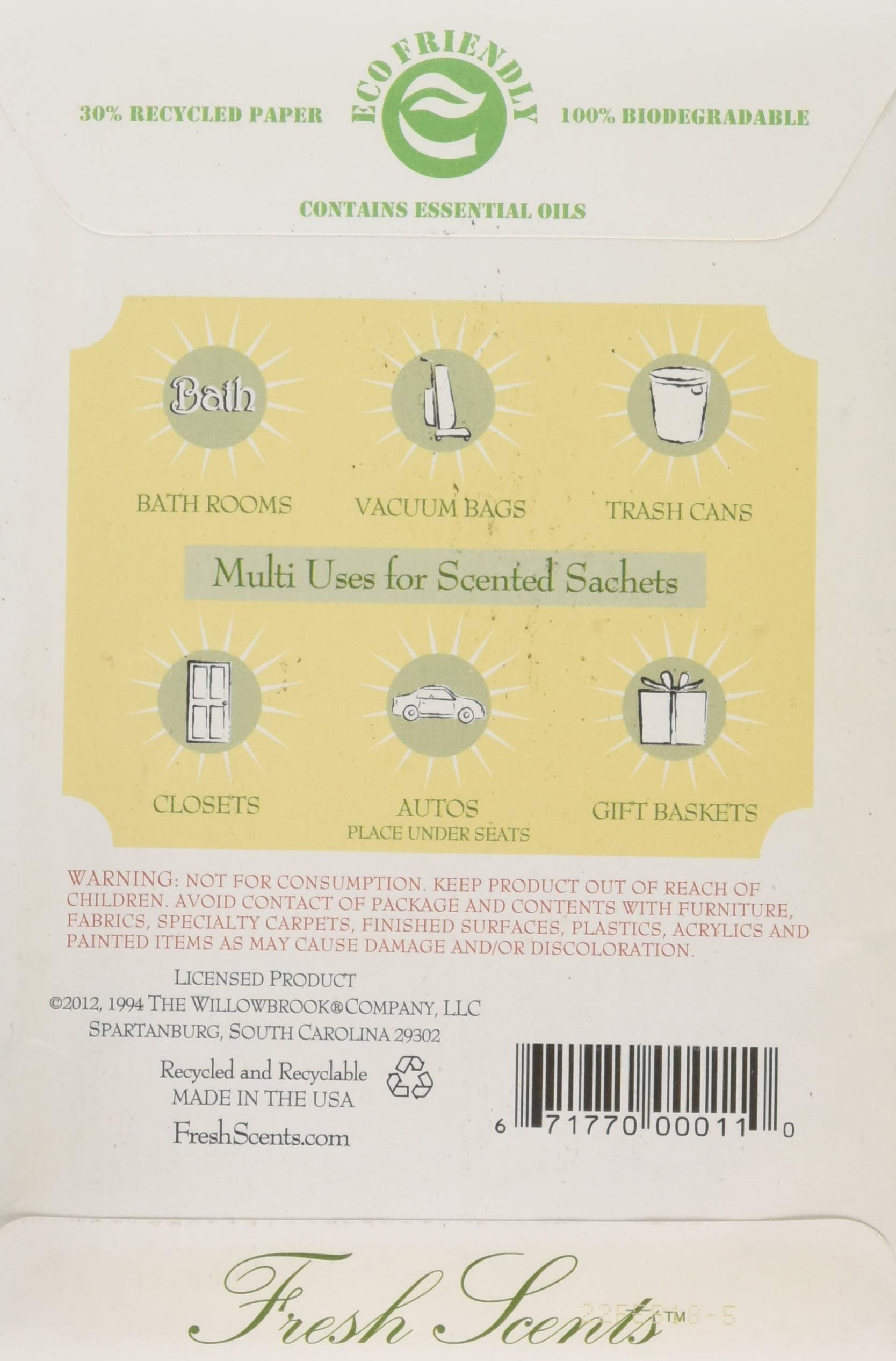 Fresh Scents Scented Sachets - Jasmine, Lot of 6 by Fresh Scents by Terri (Image #2)