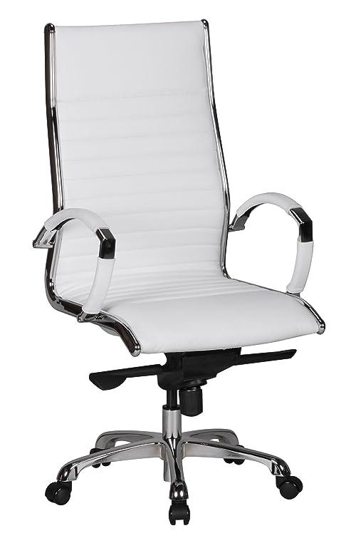 Design schreibtischstuhl  AMSTYLE Bürostuhl SALZBURG 1 Bezug Echt-Leder Weiß Design ...