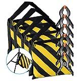 Neewer 4-Pack Schwer Duty Sandsäcke (Gelb / Schwarz) für Fotostudio Lichtstative Ausleger Arme mit 6-Pack Baumwollstoff Hintergrund Federklemmen (Leere Sandsäcke)