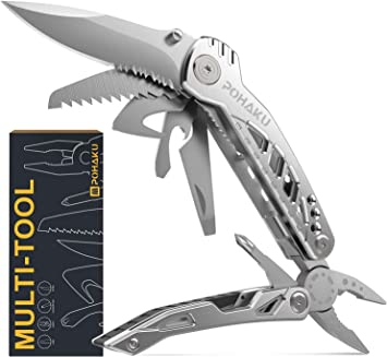 First Fathers Day Gifts from Baby Girl, POHAKU 13 in 1 Portable Multitool Knife with 3