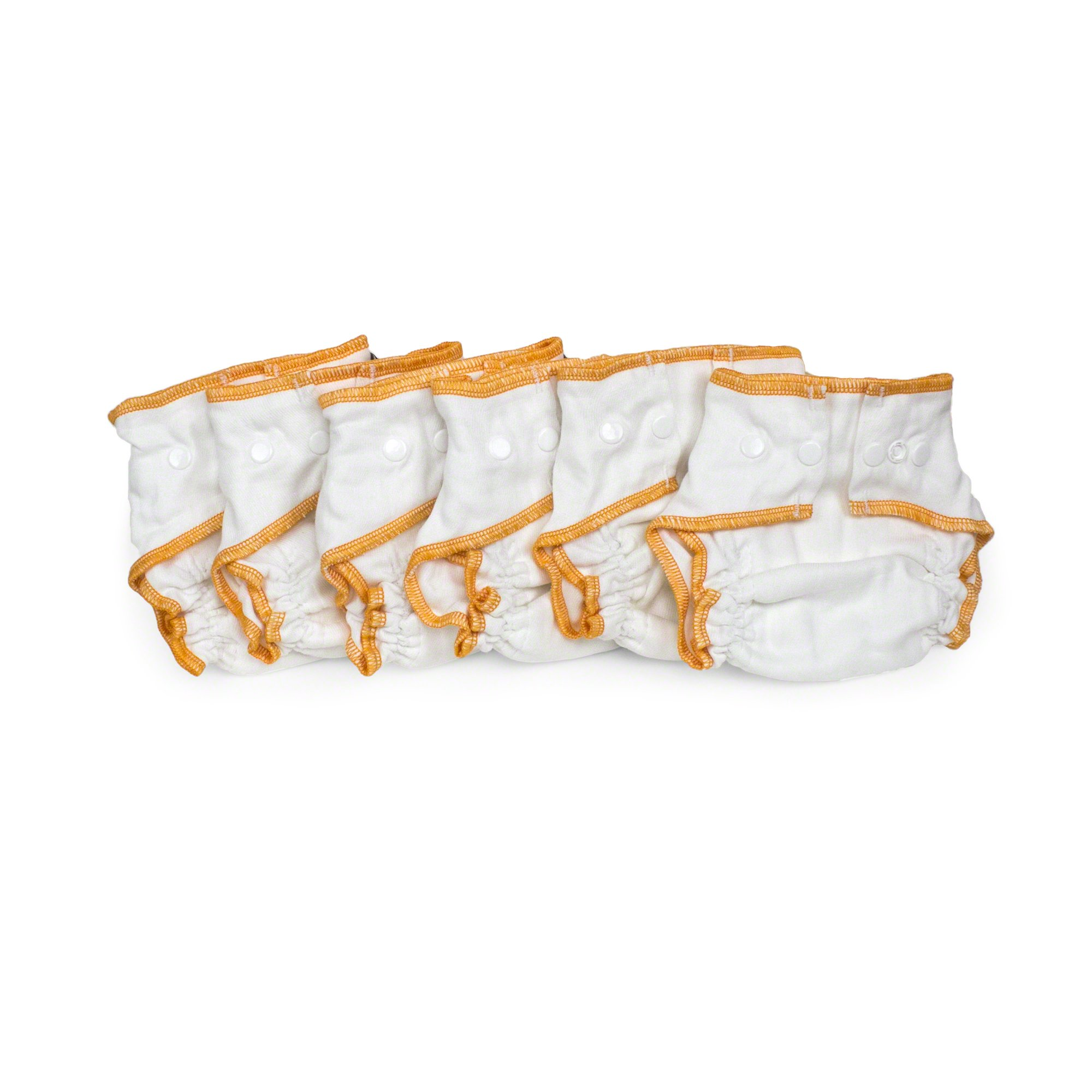 Cloth-eez Workhorse Fitted Diaper White Snap (Newborn 6-pack)