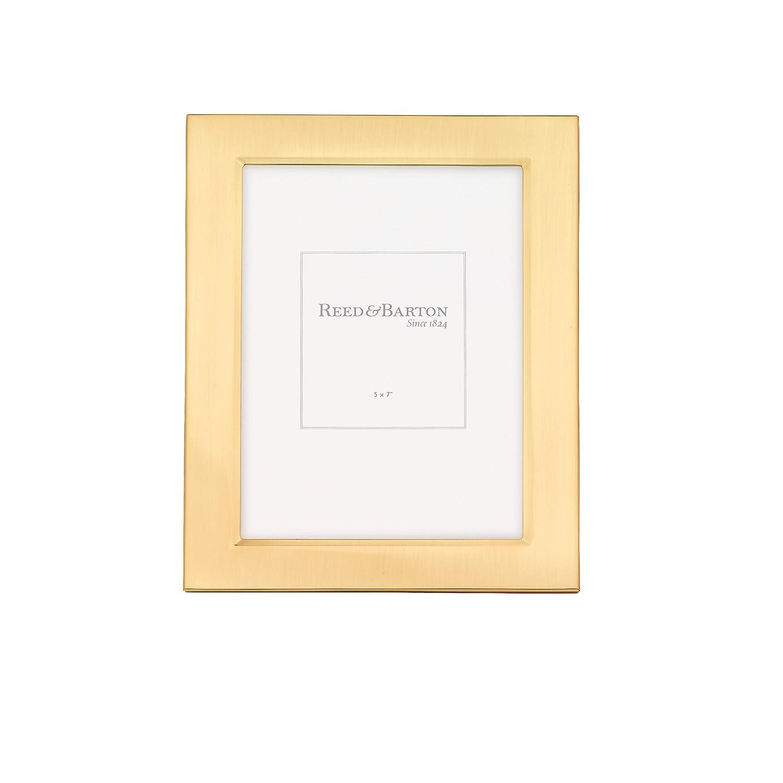 Amazoncom Reed Barton Classic Satin Gold Frame 5 X 7