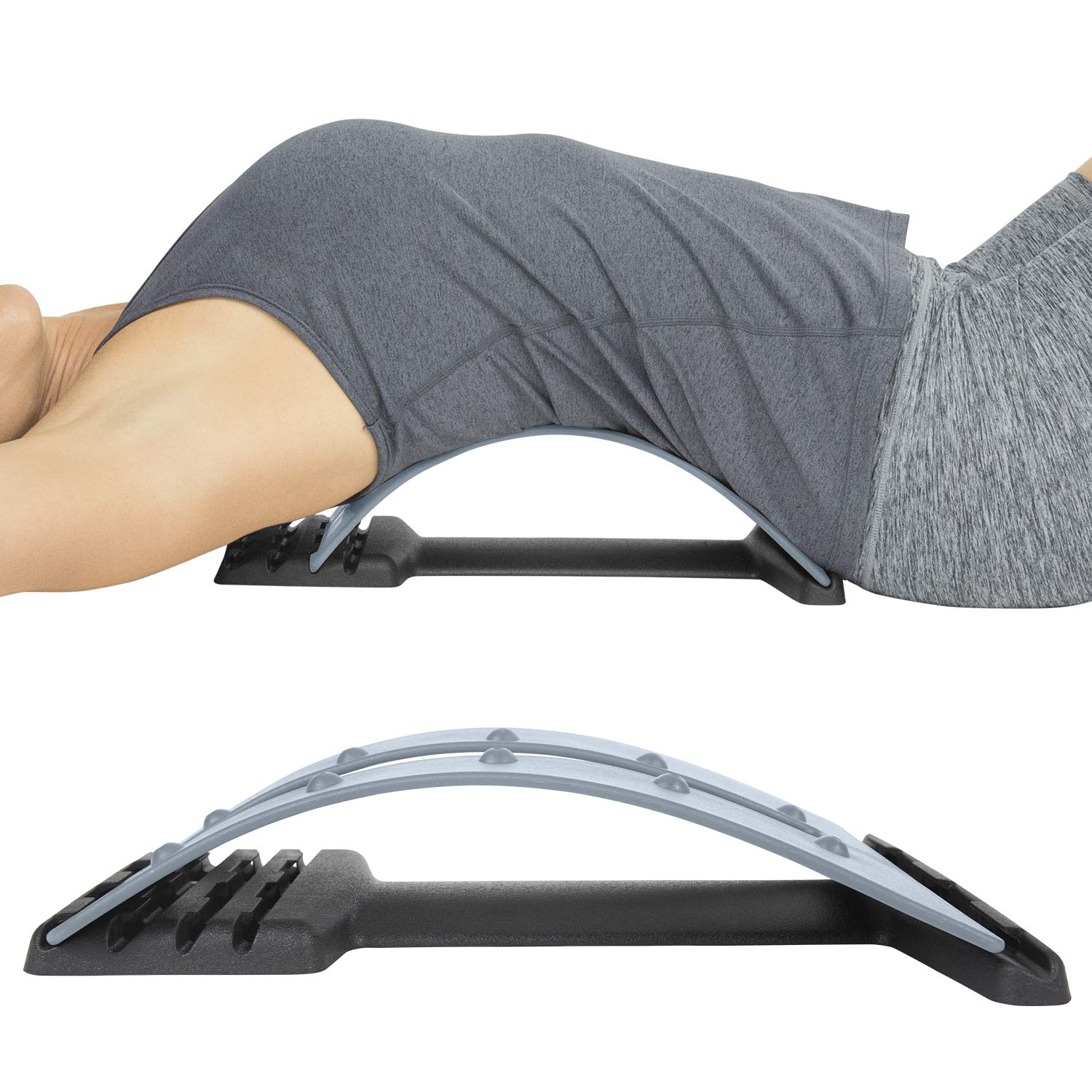 Vive Back Stretcher - 4 Posture Corrector Positions for Upper and Lower Lumbar Pain Relief, Herniated Disc, Spinal Stenosis - Orthopedic Low Spine Straightener Extension for Scoliosis - Men, Women by Vive