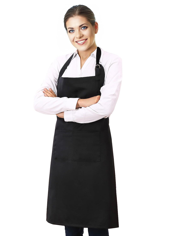 1 Pack 24 x12 Mustard Restaurant VEEYOO Waist Apron with 3 Pockets Waiter Server Short Half Aprons for Women Men Waitress Aprons Cotton Short Apron for Kitchen