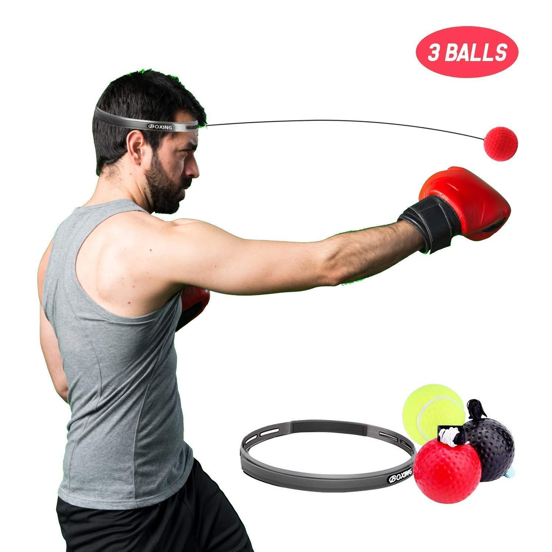 Fitness-Box-Ausr/üstung mit 3 Schwierigkeitsb/ällen zur Verbesserung der Reaktionszeit Zeit und Geschwindigkeit ETCBUYS Reflex-Trainings-Box-Ball