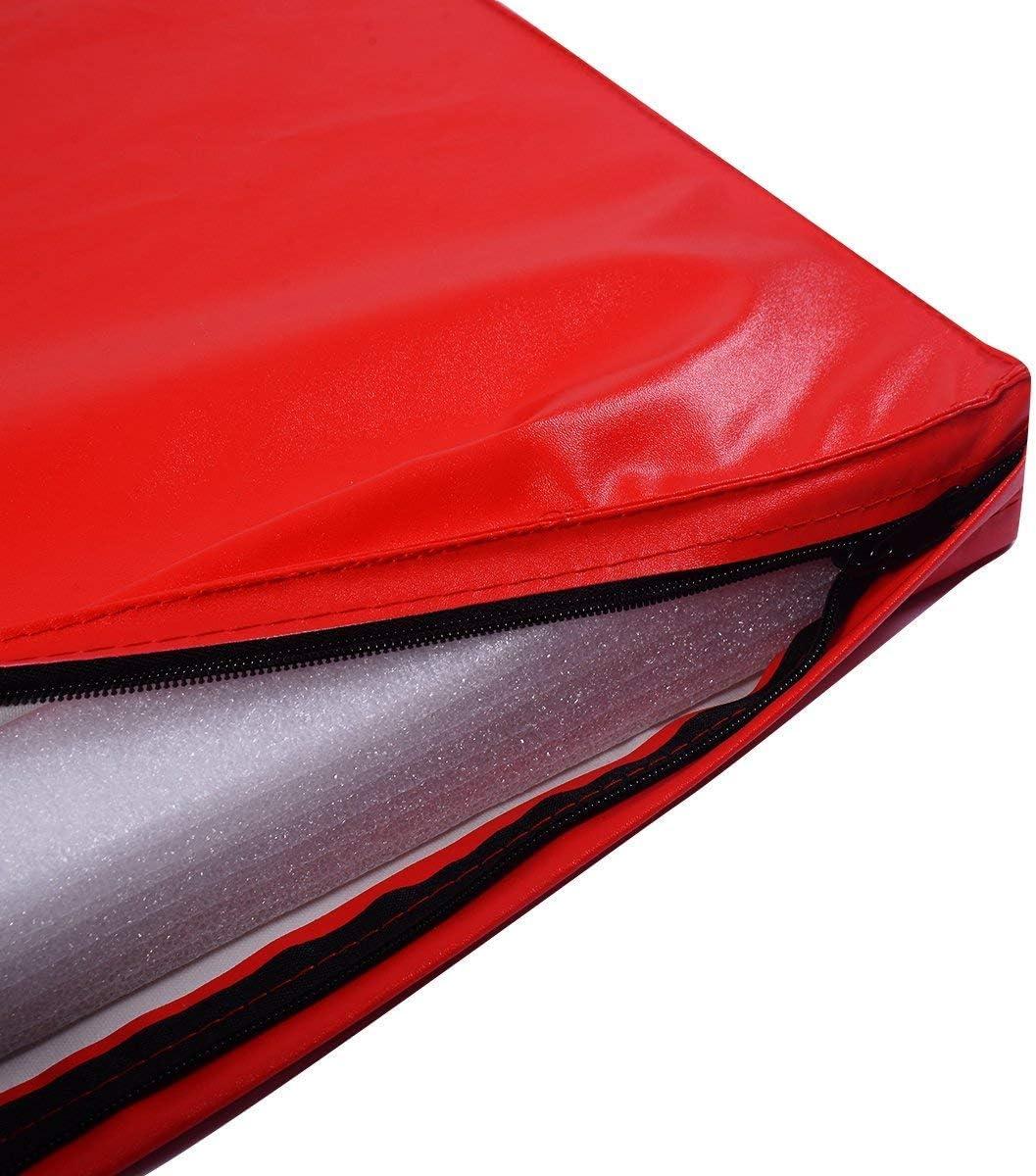 COSTWAY Tapis de Gymnastique Pliable Tapis de Yoga Pliant Tapis Musculation Matelas Gymnastique Pliant Portable 180x60x5CM