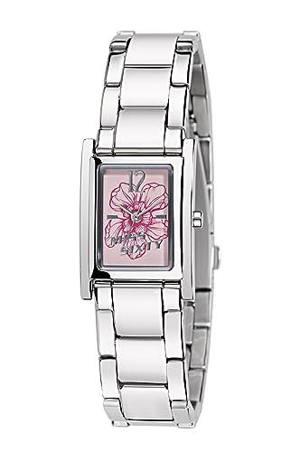 Miss Sixty SQF008 - Reloj analógico de cuarzo para mujer con correa de acero inoxidable, color plateado: Amazon.es: Relojes