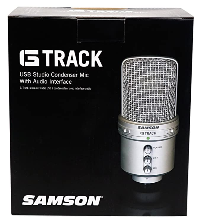 Amazon.com: Samson G-Track Studio Recording Podcast USB Microphone w/Interface+Headphones: Musical Instruments