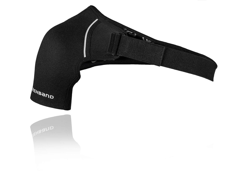 Colore Nero Rehband QD Shoulder Support L-Links Tutore per Spalla