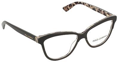 199146a33d71 DOLCE & GABBANA DG 3229 Eyeglasses 2857 Black On Leo 54-14-140 ...