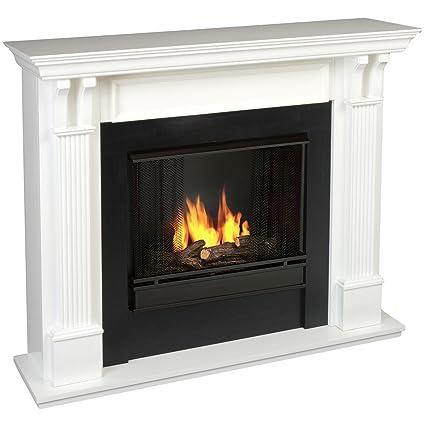 amazon com real flame ashley gel fuel fireplace in white finish rh amazon com gel fuel fireplace canada fireplace gel fuel