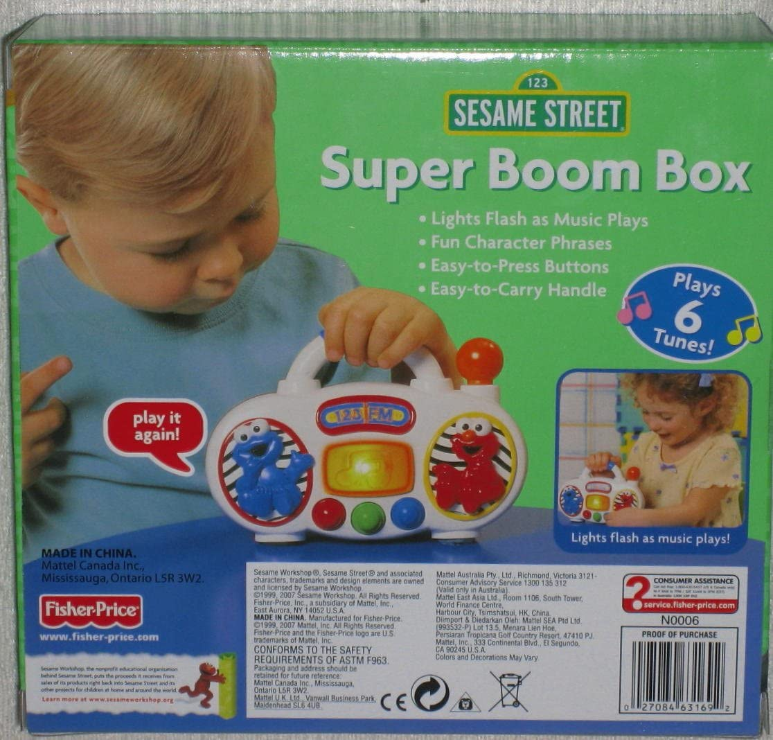 Amazon.com: Fisher Price Elmo de Super Boom Box: Toys & Games