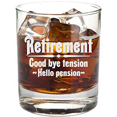 Retirement Gift Whiskey Glass for Men