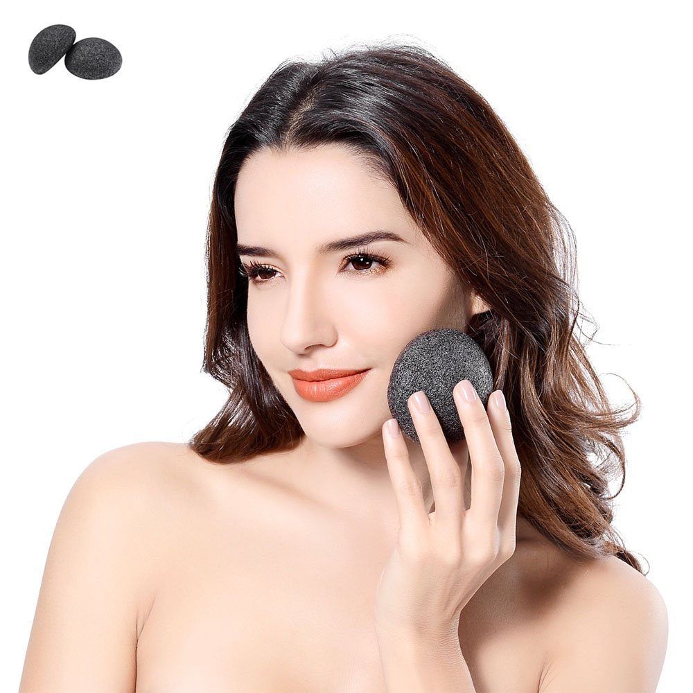 Konjac Facial Sponge (2 Pack Set), Gentle deep cleaning, Facial Cleansing & Exfoliating Beauty Sponges, Natural Great for Sensitive, Oily and Acne Prone Skin. Anliceform