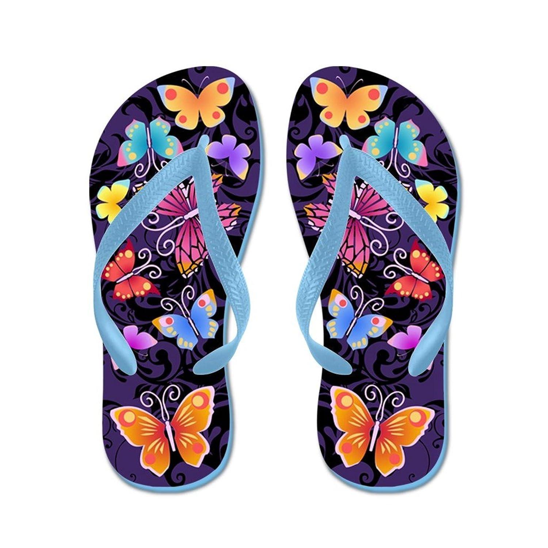 3b9367b98d2e Lplpol Swirls Butterflies Dark Prints Sandals Flip Flops for Kids Adult  Unisex Beach Sandals Pool Shoes