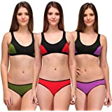 Urbaano Serena Sports Lingerie Set-Pack of Three