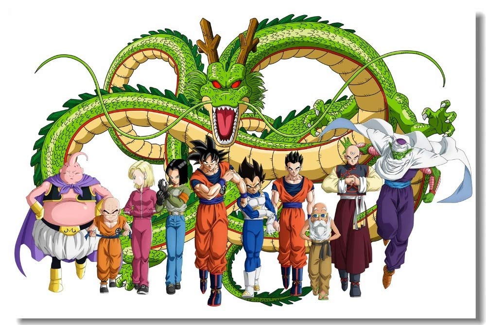 Buy Generic Custom Canvas Wall Decals Dragon Ball Z Poster Dragon Ball Super Stickers Goku Vegeta Shenron Mural Kids Anime Wallpaper 0406 Photographic Paper 80x120cm Online At Low Prices In India