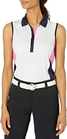 PGA TOUR Women's Sleeveless Colorblock Polo Shirt