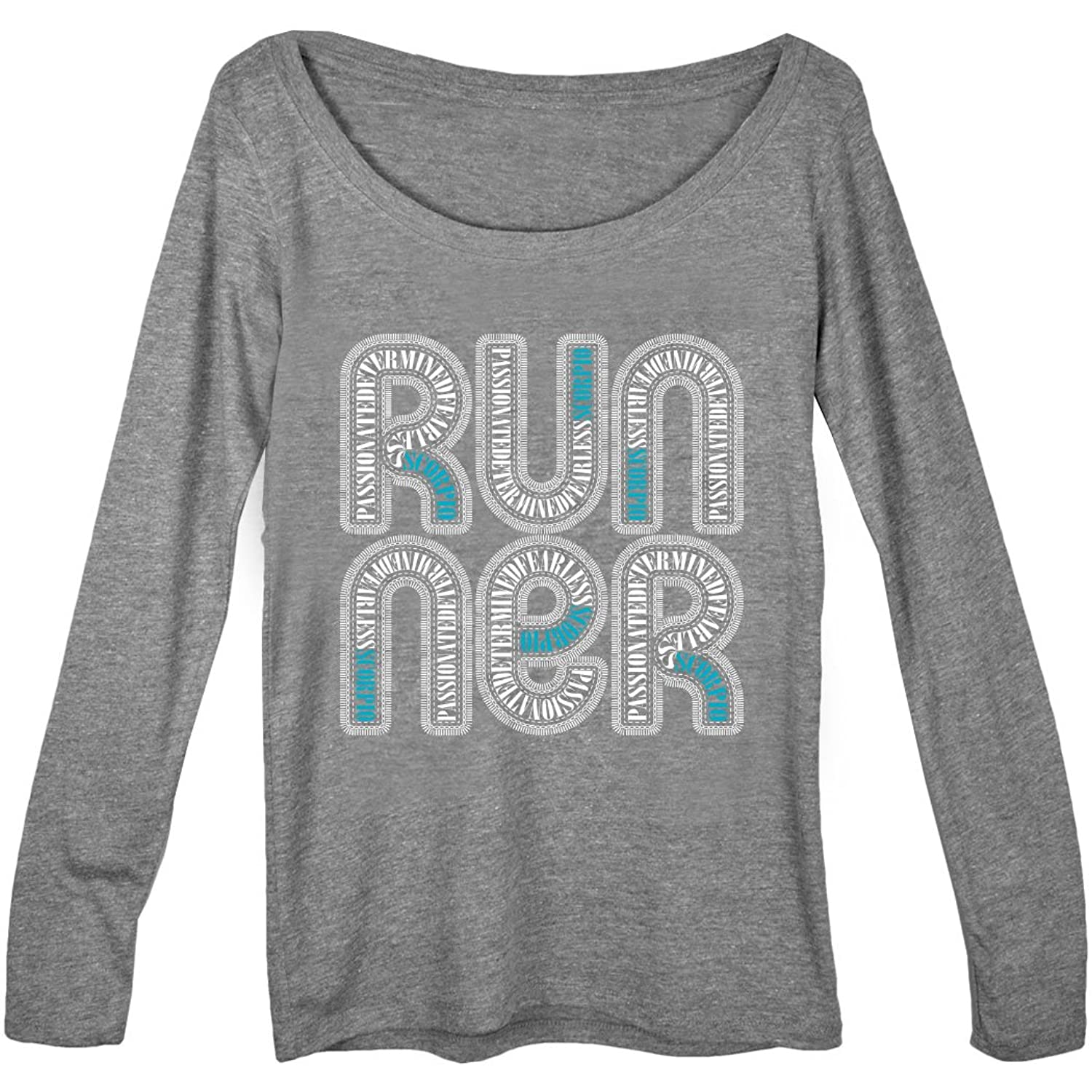 Gone For a Run Women's Runner Scoop Neck Long Sleeve Tee Scorpio Zodiac Runner