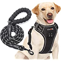 tobeDRI No Pull Dog Harness Adjustable Reflective Oxford Easy Control Medium Large Dog Harness with A Free Heavy Duty…
