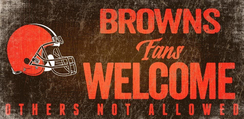 Fan Creations Cleveland Browns Fans Welcome Sign, Multi