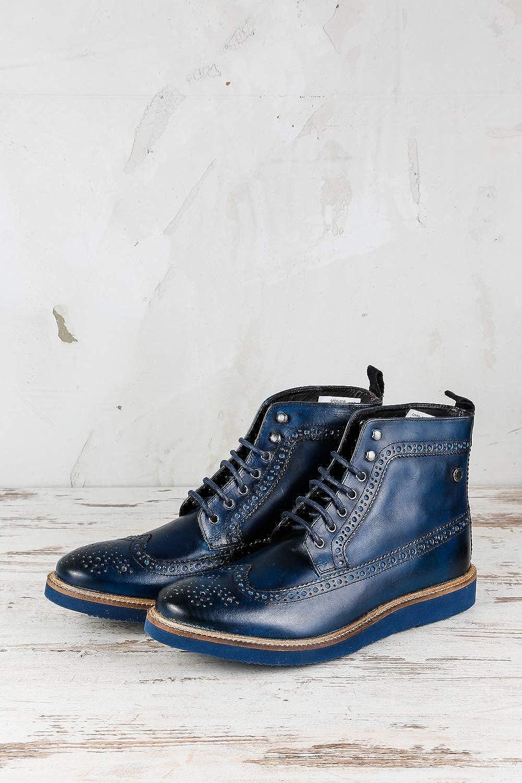 Base London Herren Nebula Budapester Boots Blau Gr. 42