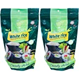 White Sushi Rice, Premium Japanese Short Grain Rice, Specially Selected, 16oz Resealable Bag (Pack of 2, Total of 32 oz)