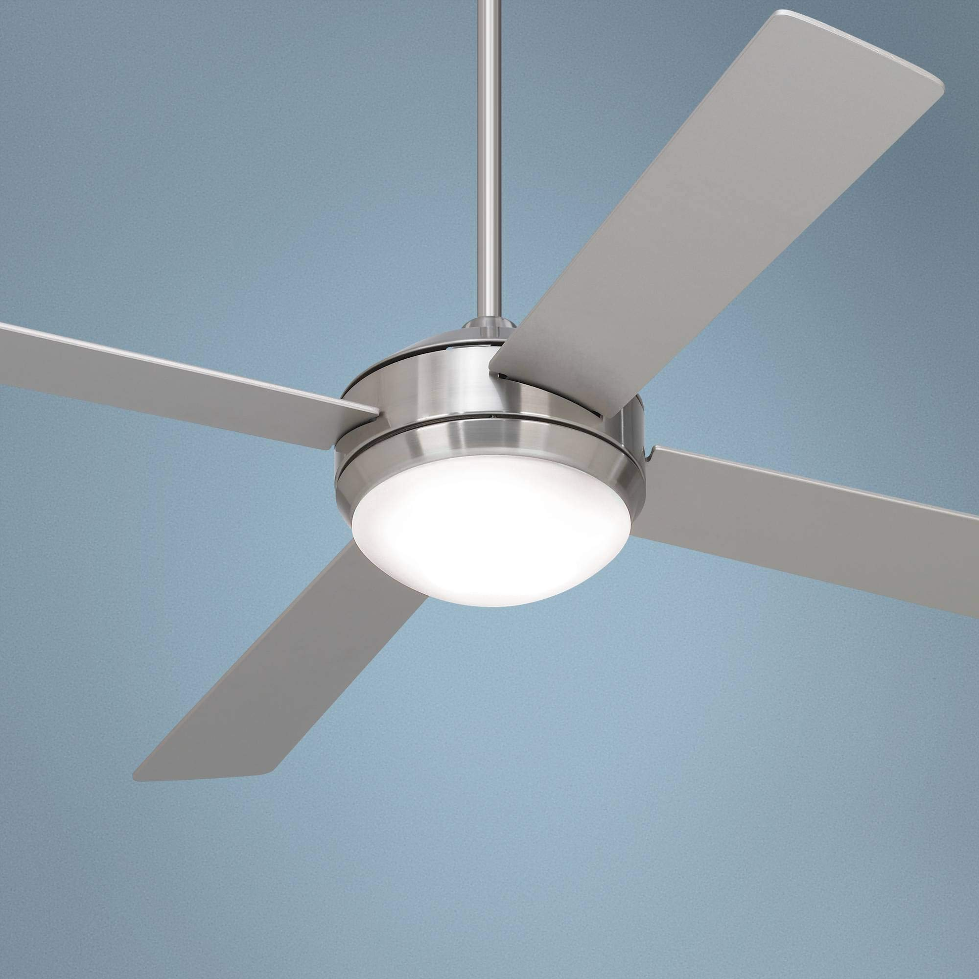 52'' Courier Brushed Nickel LED Ceiling Fan - Casa Vieja
