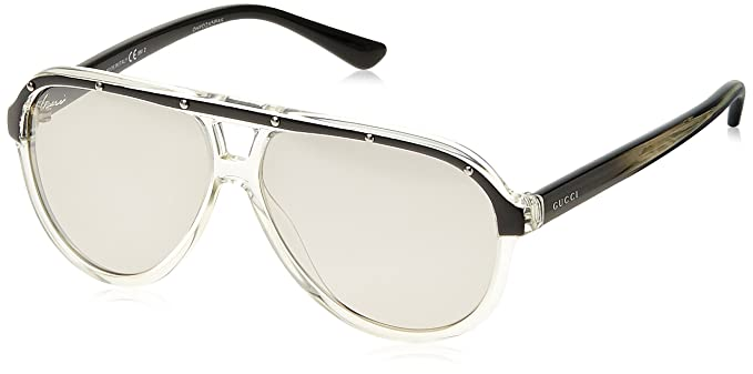 e7bb5fd2a2d Image Unavailable. Image not available for. Colour  Gucci Mirrored Aviator  ...