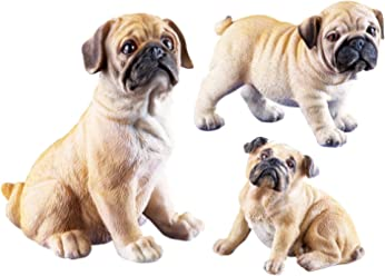 Collections Etc Pug Family Set Figurines