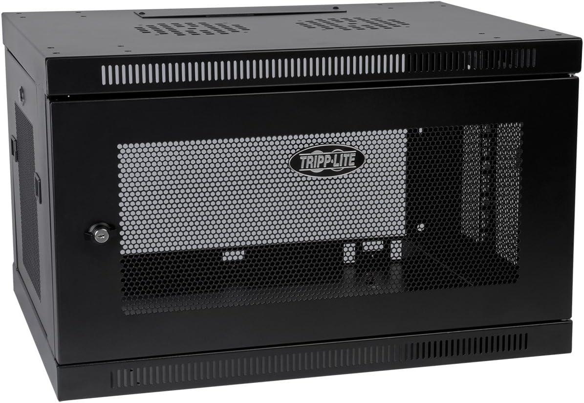 tripp lite 6u wall mount rack enclosure server cabinet 16 5 deep switch depth srw6u black