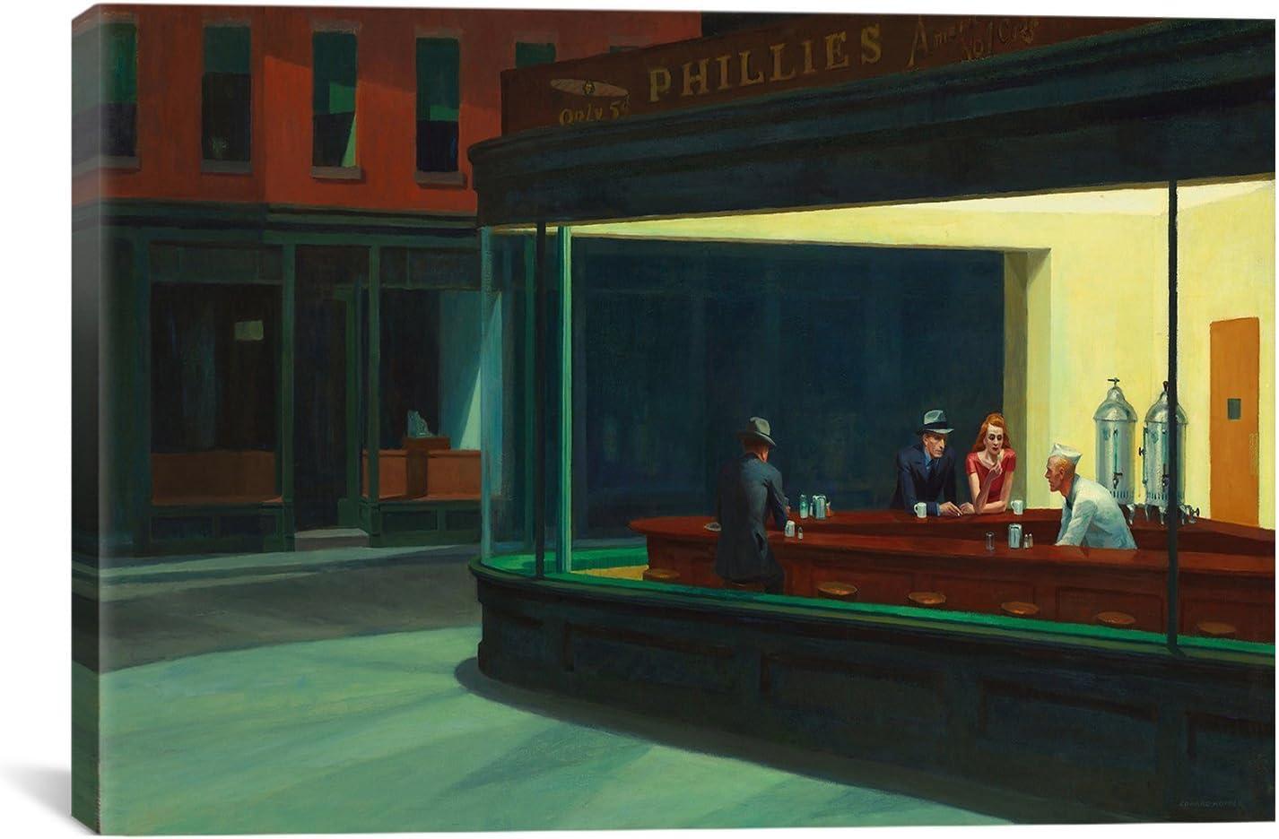 Canvas Art Print Nighthawks Edward Hopper