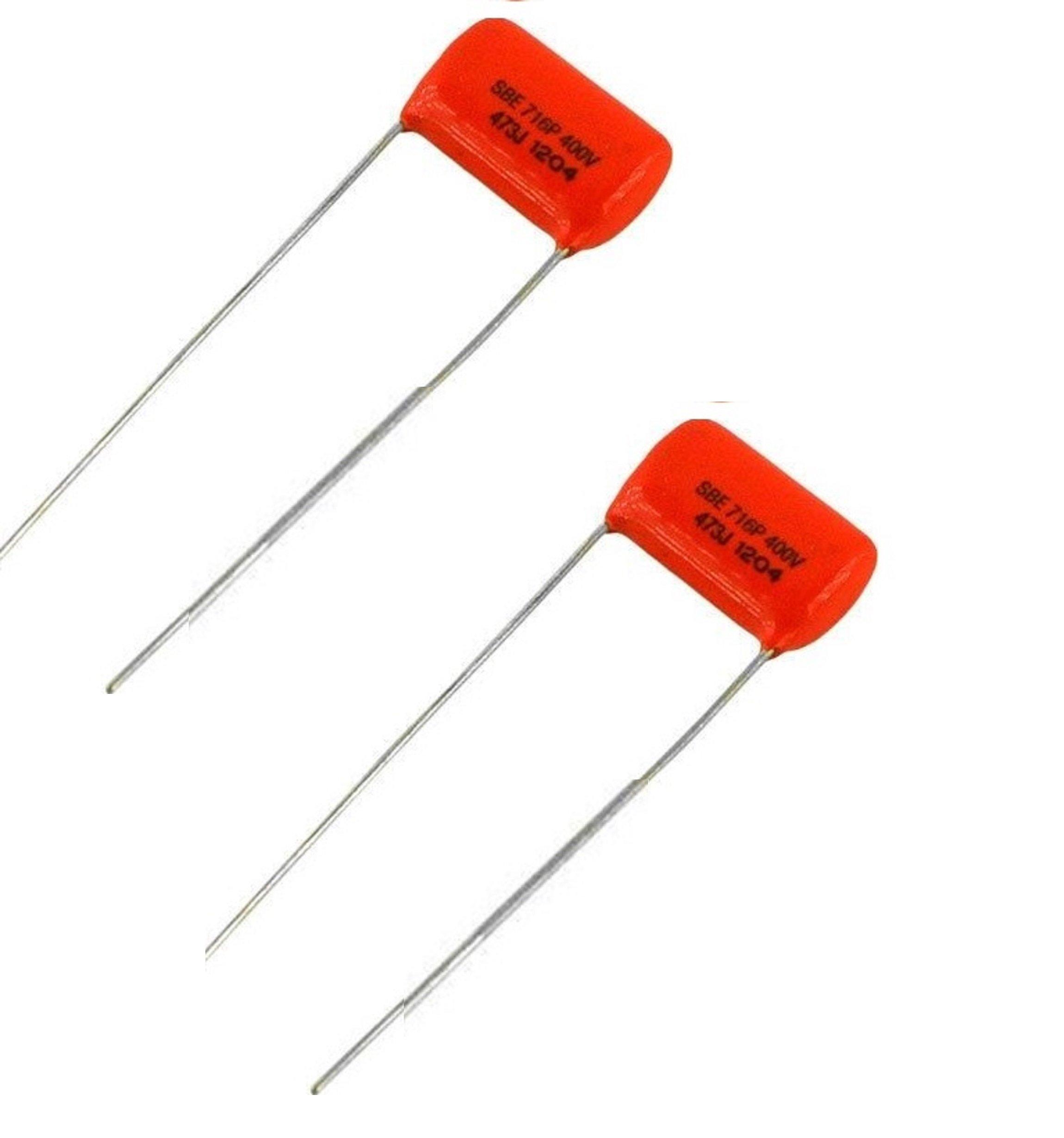 .047 uf, 400 Volt Orange Drop Film Capacitors - Pair (2X)