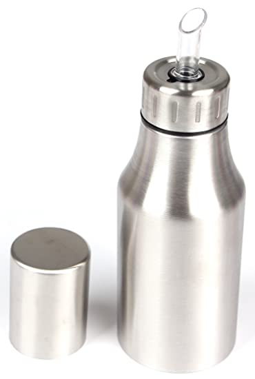 Hierkryst Stainless Steel Oil Dispenser Container For Cooking Measure Kitchen  Oil Dispenser Bottle With Spout,