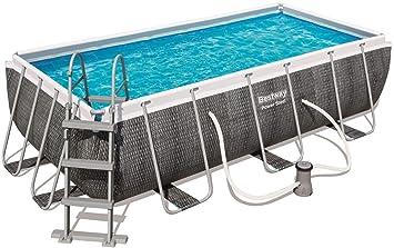 Gut bekannt Bestway Power Steel Deluxe Frame Pool rechteckig mit stabilem CD43