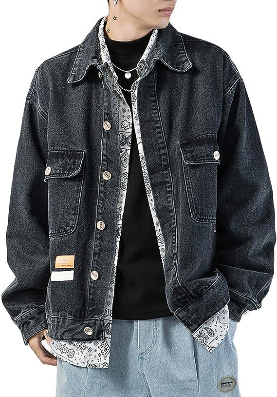 デニムジャケット メンズ おしゃれ カジュアル ジージャン 大きいサイズ 上着 ゆったり パーカー