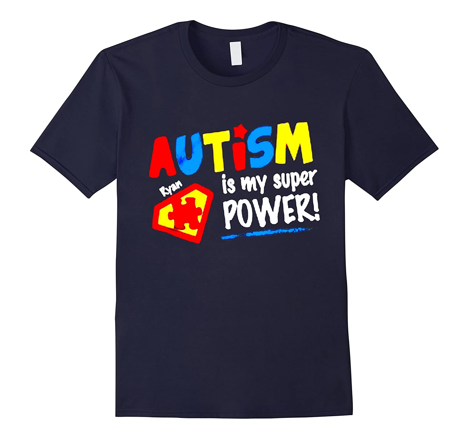 autism is my super power autistic support april mom shirt-TH