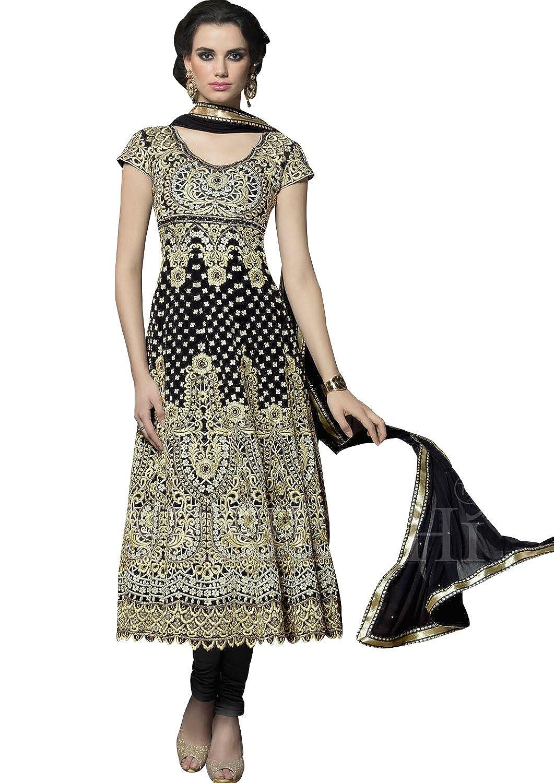e73fcd6c71 Amazon.com: Sapphire Fashions Women's Black Georgette salwar Kameez:  Clothing