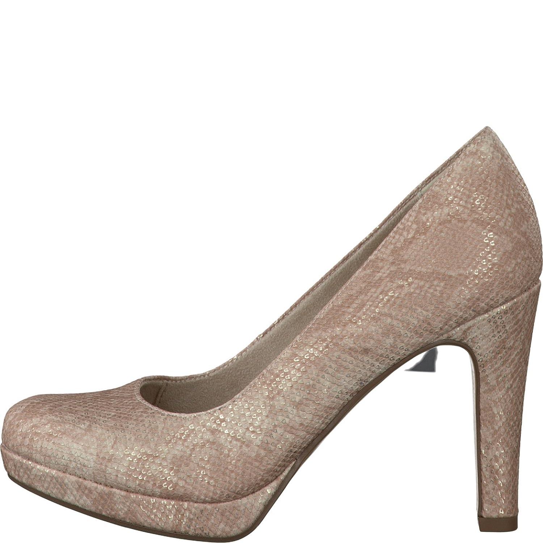 Tamaris 1-22426-28-511 Damen Schuhe Metallic Plateau Pumps High Heels