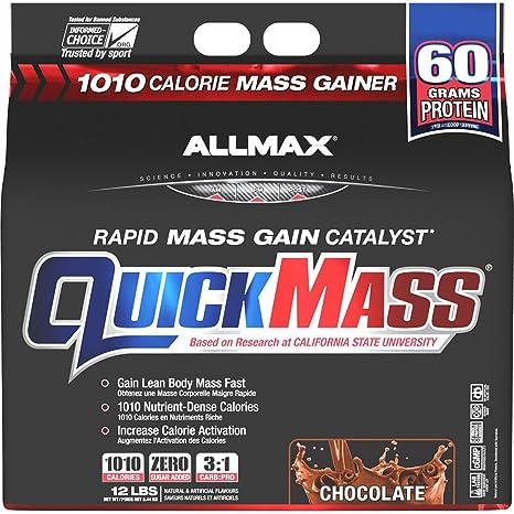 Amazon.com: Allmax Quickmass Loaded 12lbs Chocolate: Health & Personal Care