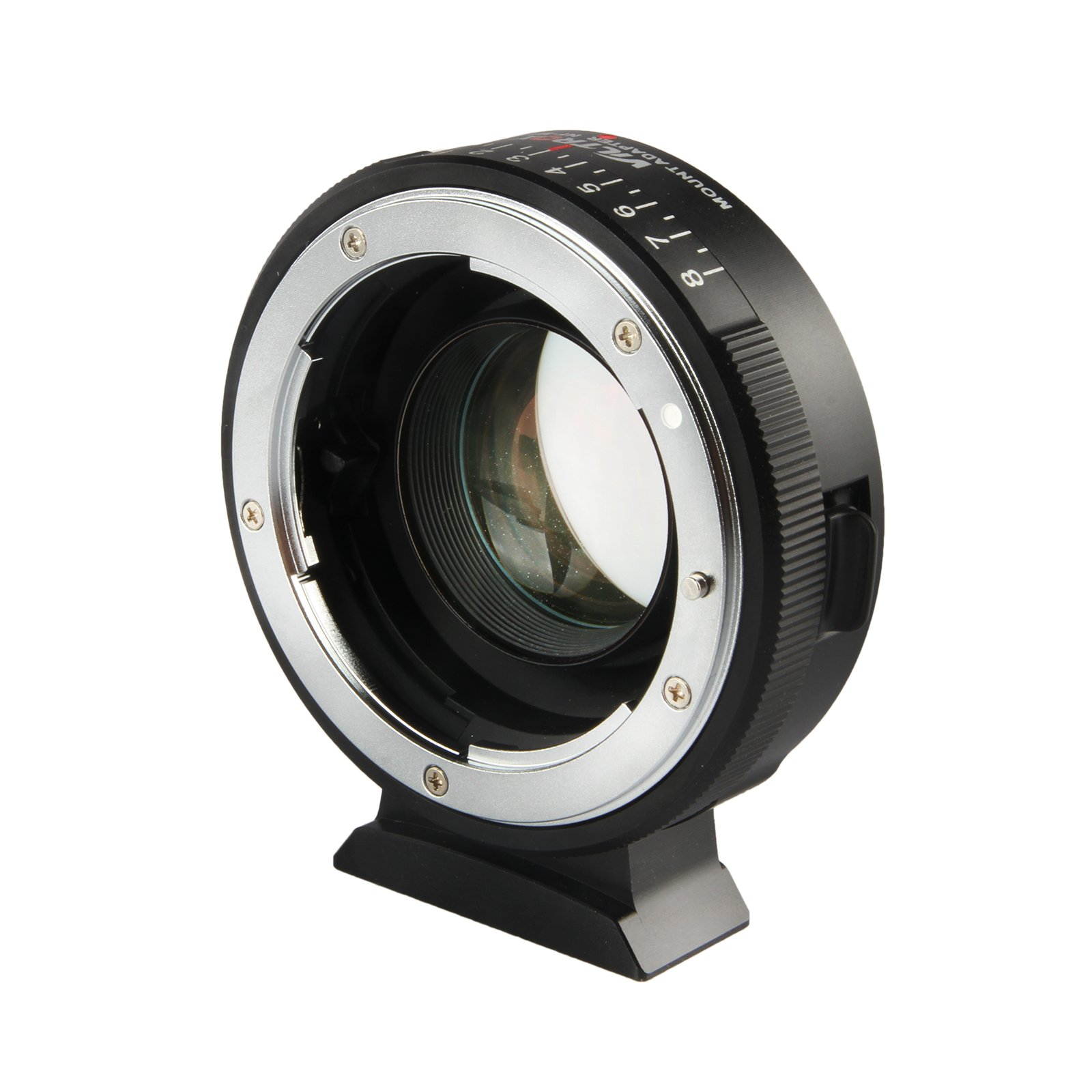 NF-M43X Focal Reducer Speed Booster 0.71X Lens Mount Adapter for Nikon G&D Mount Lens to M4/3 Mirrorless Camera with Manual Focus, Infinity Focus and 8 Adjustable Aperture by VILTROX
