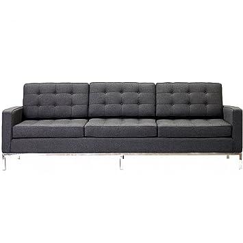 Modway Modway Loft Wool Sofa, Dark Gray, Fabric