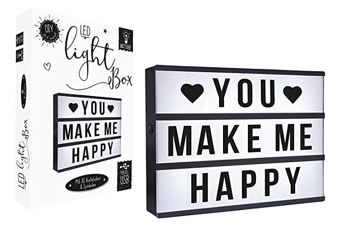 Cartel luminoso, Lightbox LED A4, con conector USB, con 85 ...