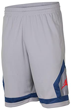 8cd469aebce NIKE Jordan Men's Dri-Fit Flight Diamond Basketball Shorts-Cool Grey-Small