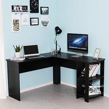 Phenomenal Lemaijiaju Computer Desk Office Table L Shaped Workstation Download Free Architecture Designs Momecebritishbridgeorg